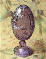 Amethyst Glass Egg Jar