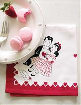 'Key To My Heart' Nostalgic Linen Cloth