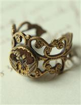 Ultimately Romantic Perfume Button Ring
