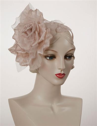 Louise Green Delicate Rose Fascinator
