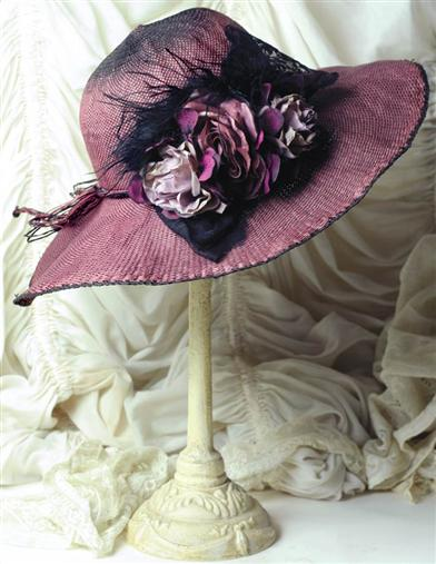 Aubergine Hat And Hatbox