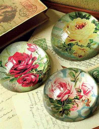 French Roses Paperweight