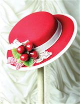 Sweet Cherry Felt Fascinator
