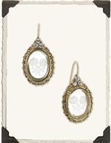 Intaglio Stone Crystal Nosegay Earrings
