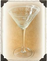 Dorothy Parker Art Deco Martini Glass