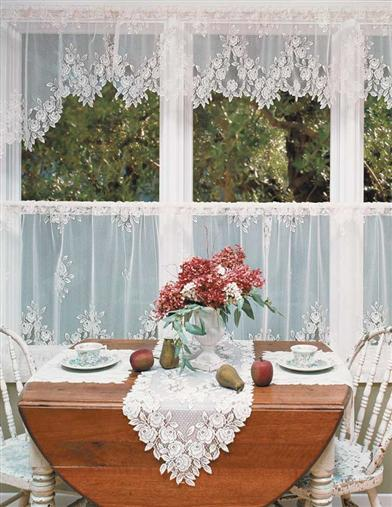 Tea Rose Lace Curtains