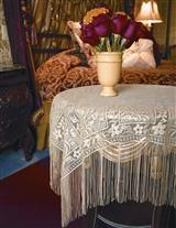 Fringed Chantilly Lace Topper