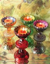 Jewel Glass Tealight Cups (Set Of 4)