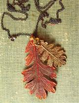Filigreed Lace Leaves Necklace