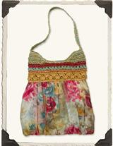 Watercolour Roses Hobo Bag
