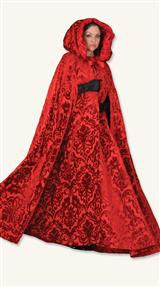 Crimson Brocade Cape