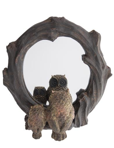Faux Bois Owlkins Mirror