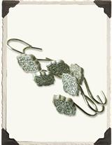 Silver Filigree Shower Curtain Hooks