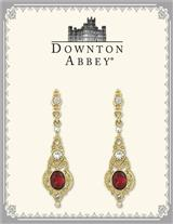 Downton Abbey Crimson Earbobs