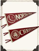 Team Christmas Felt Pennants (Pair)