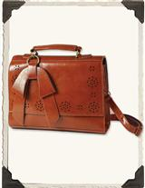 Preppy Punchwork Purse (Dartmouth Brown)