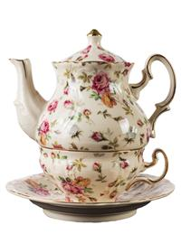 Elizabeth Park Chintz Tea For One