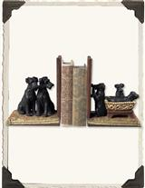 'Family Of Dogs' Edwardian Bookends