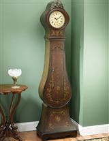 Portwine Grandmother Clock Cabinet