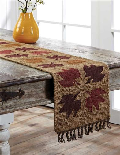 Maple Leaf Woven Runner