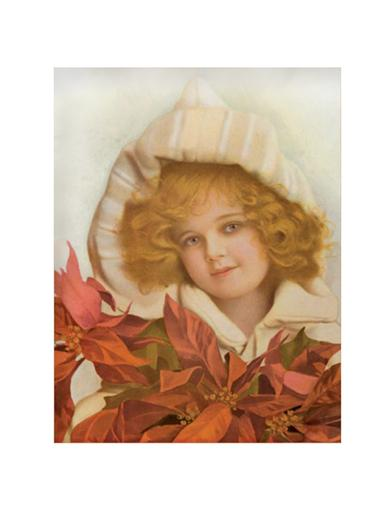 Little Poinsettia Girl