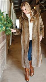 Faux Fur Coyote Coat
