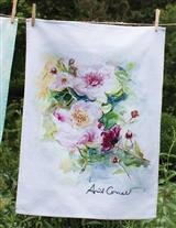April Cornell Watercolour Tea Towel (Peonies)