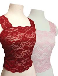 Romantic Lace Camisoles (Red & Pink Set)