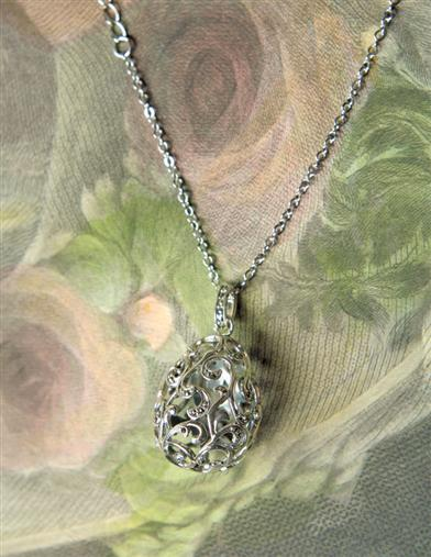 Filigree Egg Vinaigrette Pendant