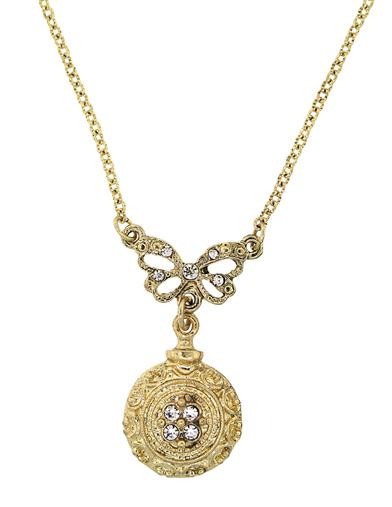 Downton Abbey Gold Bow Necklace