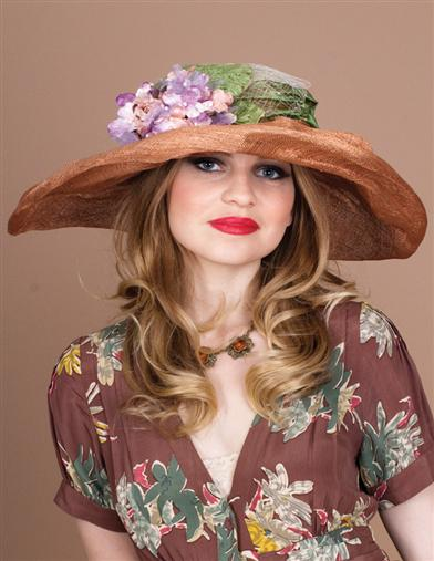 Louise Green Meadow Flowers Hat