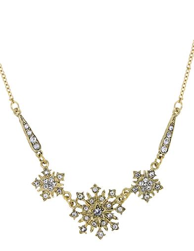 Downton Abbey Gold Starburst Statement Necklace