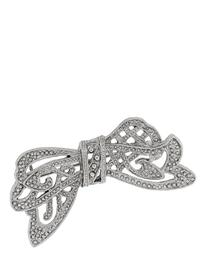 Downton Abbey Silver Crystal Bow Pin
