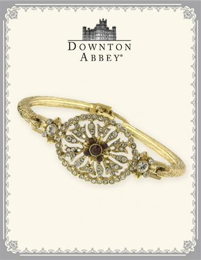 Downton Abbey Siam Red And Pave Crystal Bangle