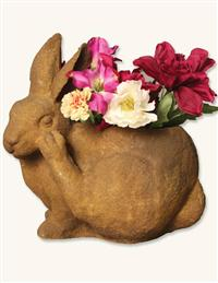 Scratching Rabbit Planter