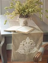 Milady Collection Champagne Table Runner