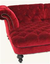 Scarlet Velvet Sectional