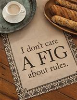 Downton Abbey 'I Don't Care A Fig' Tea Towel