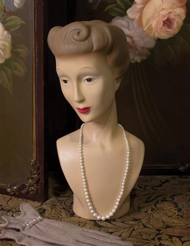 Vintage Reproduction Mannequin Bust