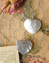 Mother-of-pearl Ear Hearts