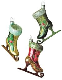 Pearly Skate Ornaments (Set Of 3)