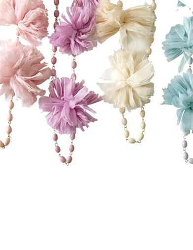 Pom Pom Necklaces (Set Of 4)