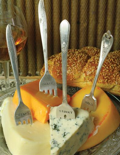 Vintage Cheese Markers (Set Of 4)