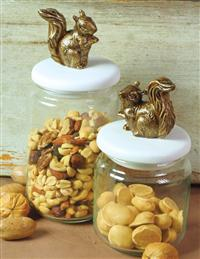 Squirrel Nuts Jars (Pair)