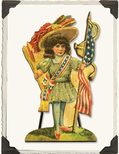 Patriotic Polly Vintage Stand-up
