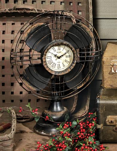 Minutes Breeze By Old Fan Clock