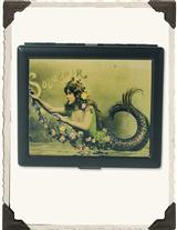 French Mermaid With Flowers Card Case