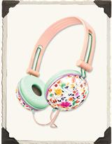Noise Isolating & Featherlight Floral Headphones