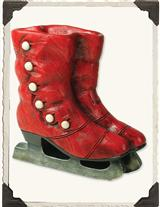 Red Old Skates Planter