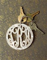 Pearly Monogram Keychain